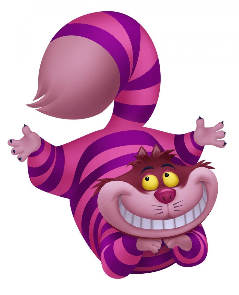 El gato de Cheshire de Disney